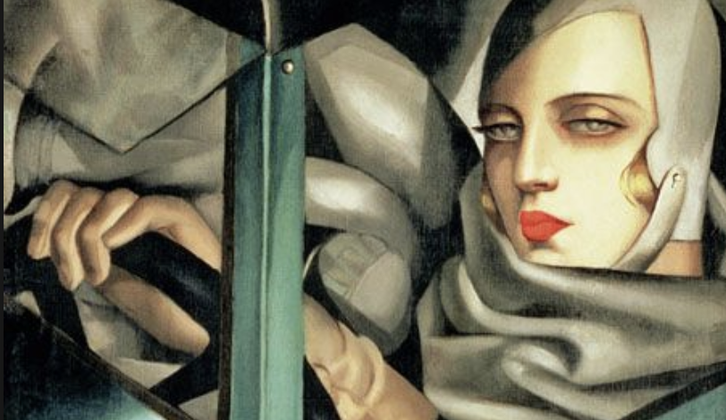 Tamara de Lempicka- Retrato bugatti verde