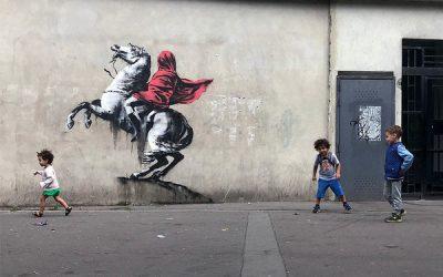 Graffiti Banksy. Napoleón